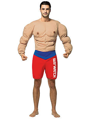 £49.80 • Buy Bay Watch Lifeguard Muscle Beach Occupations Dress Up Mens Costume OS