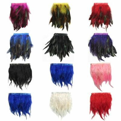 £3.99 • Buy 1M*Rooster Hackle Coque Feather Fringe Craft TrimmingsSewingCostumeMillinery
