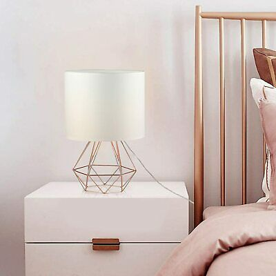 £17.99 • Buy Bedroom Table Lamp Nightstand Lamp Bedside Lamp With Metal Base And Fabric Shade