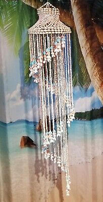 £21.82 • Buy BEAUTIFUL VTG  Multicolored Shell Spiral Cascading  52  Chandelier Hanging...