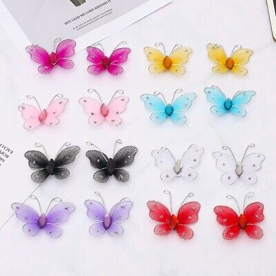 £1.92 • Buy 20PCS Mesh PVC Butterfly Wall Stickers Christmas Gift Girl Kids Baby Rooms New