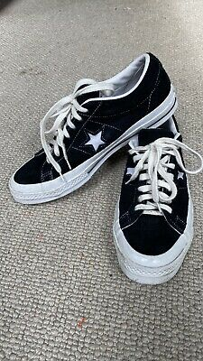 £3.40 • Buy Size UK 9-Leather/ Suede Converse Chuck Taylor All Star OX Black Good Condition