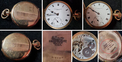 """£15.51 • Buy Gold Plated Pocket Watch  Thos. Russel & Illinois Watch Case Co"""" DDS2156-2-12821"""