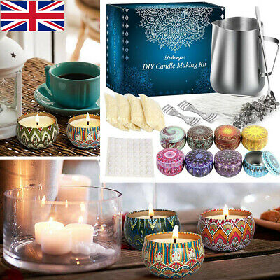 £17.99 • Buy Complete Candle Melt Making Kits DIY Starter Dyes Wicks Soy Wax Candle Pitcher .