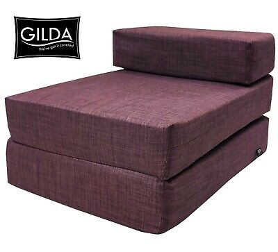 £29.99 • Buy Chair Z Bed Fold Out Futon Single Guest Folding Mattress Sofa Bed Chairbed Gilda