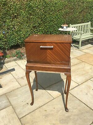 £50 • Buy Vintage Cocktail Cabinet - Mahogany Inlay Wooden Cabinet