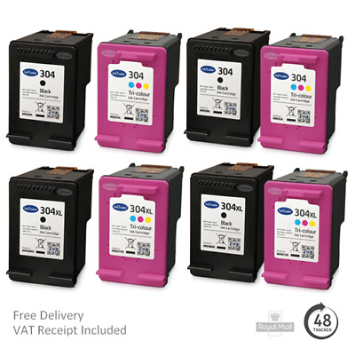£13.95 • Buy Remanufactured HP 304 & 304XL Ink Cartridges For HP Envy 5010/5032 Printers