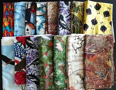£14.55 • Buy Quilting Fabric,  Bird-Themed Designs, Various Sizes, 11+ Yards Total