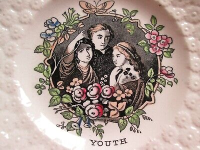 £5.99 • Buy Antique Pearlware Plate - Youth  C.1820