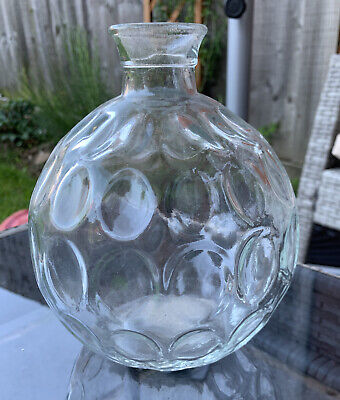 £3 • Buy Clear Dimple Glass Vase