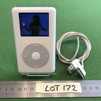 £39.99 • Buy Apple IPod A1099 Classic 4th Gen Photo White 20Gb Good Battery /Used USB Lead