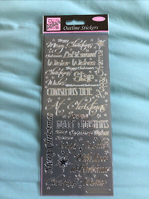 £0.50 • Buy Craftroom Clearance Anita's Outline Stickers Silver Peel Off Sheet