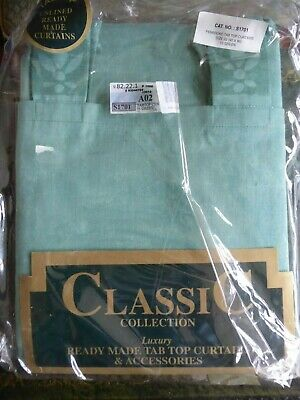 £12.99 • Buy PEMBROKE.....CLASSIC READY MADE TAB TOP CURTAINS....90 X 90 Inches..GREEN ..