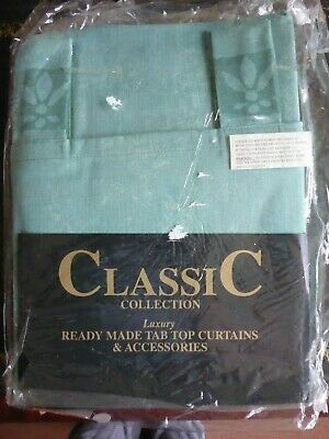 £10.99 • Buy PEMBROKE.....CLASSIC READY MADE TAB TOP CURTAINS....67x72 Inches..GREEN ..