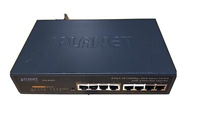 £10 • Buy PLANET FSD-804PS - 8 Port 10/100 MPBS SMART SWITCH WITH 4-Port PoE Injector