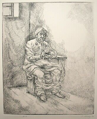 £28.50 • Buy J. McIvor Etching. Figure Sat On Toilet 1974. Traditional 18th Century Style