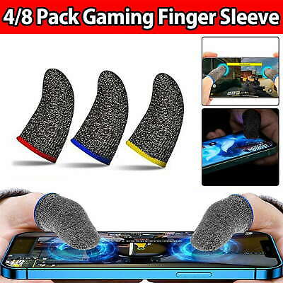 AU5.99 • Buy 4/8 Mobile Finger Sleeve Gaming Game Controller Sweatproof Gloves Touchscreen