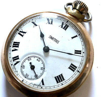 £27 • Buy Vintage SMITHS Pocket Watch Gold Tone Working Mechanical Manual Hand Top Wind