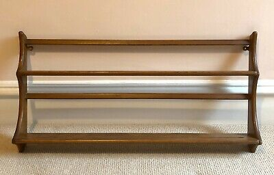 £30 • Buy Classic Ercol Wall Mounted Plate Rack/shelf. In Elm Wood, Lovely Condition!