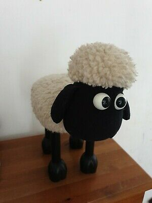 £21.50 • Buy Vintage Shaun The Sheep Foot Stool/ Door Stop - Wallace & Gromit From Boots 1989