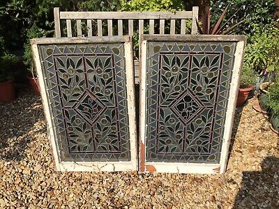 £200 • Buy 2 Antique Stained Glass Windows