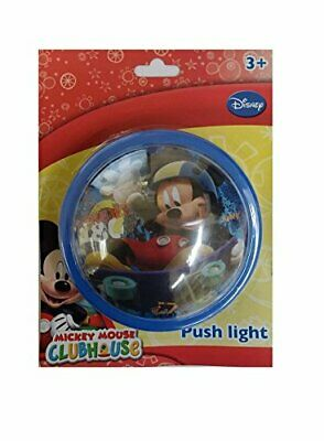 £8.99 • Buy Kids Disney Mickey Mouse Portable Battery Operated Travel Push Lamp Night Light
