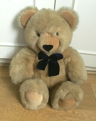 £15 • Buy KEEL TOY COMPANY Simply Soft Collection Large Teddy Bear With Navy Blue Bow