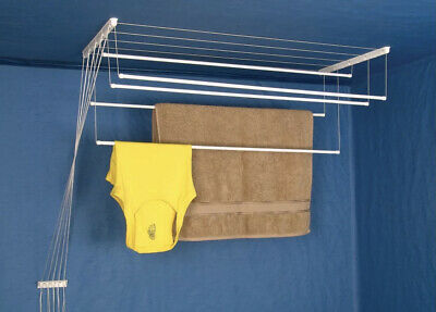 £19.59 • Buy Ceiling Clothes Dryer Laundry Pulley Airer  Drying Space Drying Rack