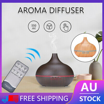 AU9.23 • Buy 7 LED Light Aromatherapy Diffuser Aroma Essential Oil Air Humidifier Wood Grain