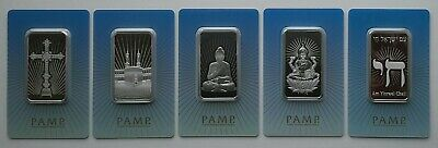 £250 • Buy **NEW** Complete Series PAMP 'Faith' CertiPAMP Packaged 1oz Silver Minted Ingots