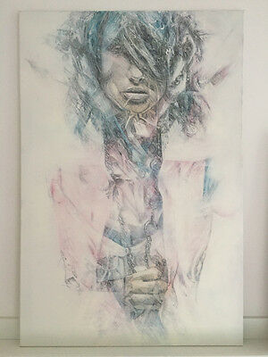 £395 • Buy REPLETE - ORIGINAL CHARCOAL AND SPRAY PAINTING ON CANVAS - Graphotism