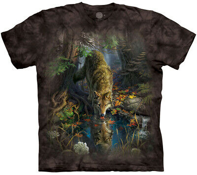 £26.99 • Buy ENCHANTED WOLF The Mountain T Shirt Reflection Unisex - Eco-friendly