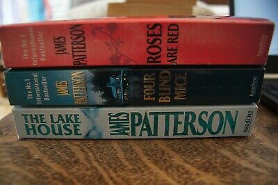 £4.95 • Buy James Patterson 3 Books Roses Are Red Four Blind Mice The Lake House