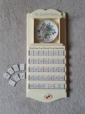 £75 • Buy Country Diary Of An Edwardian Lady Wooden Calendar & 12  Davenport Month Plates