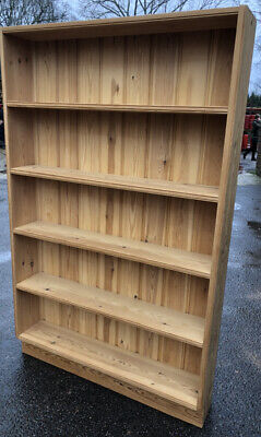 £35 • Buy Tall Large Solid Wood Wooden BOOK CASE Shelf Unit 5 Shelves