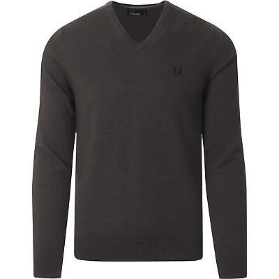£34.99 • Buy Fred Perry Mens Boys Mod Classic Tipped V-neck Jumper Graphite Marl Size Xs Bnwt