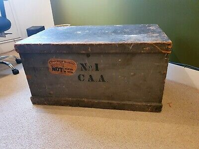 £39 • Buy Large Wooden Antique Shipping Trunk