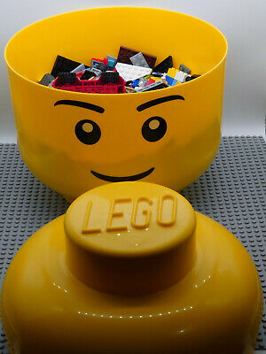 £30 • Buy Lego Storage Head 27cm Filled With 1kg Of Assorted Pieces Plus 15inch Base Board