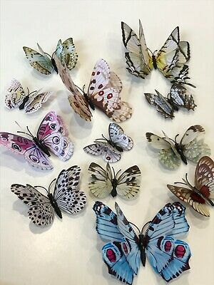 AU5.99 • Buy 12pcs 3D Butterfly Removable Stickers Decals Wall Window Appliance Magnetic AU