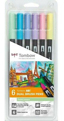 £15.20 • Buy Tombow ABT Dual Brush Pens Pastel Colours 6 Pack