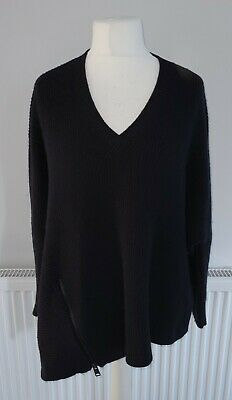 £24.99 • Buy All Saints Womens Blue Able Knit Zip Detail Oversized Jumper - UK Size Small.