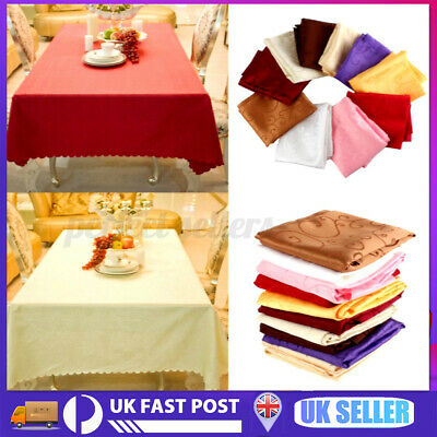 £6.53 • Buy 1.2m Square Tablecloths Flower Pattern Wedding Table Cover Home Banquet Party