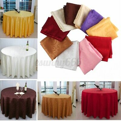 £5.53 • Buy Square Tablecloths Catering Table Cover Wedding Party Restaurant Banque #