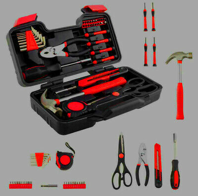 £15.07 • Buy Improvements 39 Piece Tool Set General Household Hand Tool Kit For Ladies W/Case