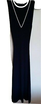 £5 • Buy M & S Navy Dress. Elegant Style In Knitted Stretch Fabric With Linen Size XS 6/8