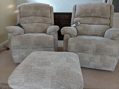 £450 • Buy Sherborne Olivia Riser Recliner Chairs - 2 With Stool