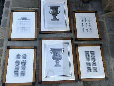 £70 • Buy Six Architectural Wooden Framed Etchings