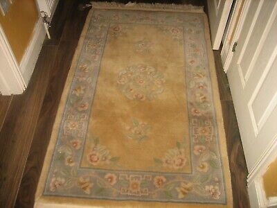 £39 • Buy Chinese   Rug  Yellow Tones   Floral  Pattern, 38 Ins X 60 Ins