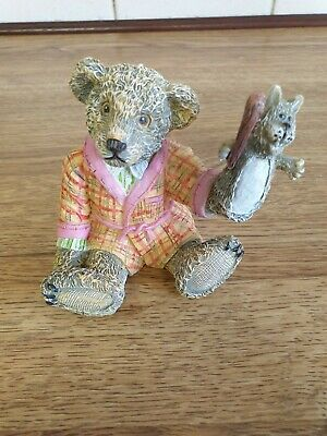 £15 • Buy Kevin Wood Collection Teddy Bear Painted Ornament PATRICK