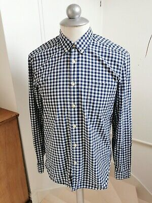 £3.99 • Buy H&M Men's Shirt Long-sleeved Casual Red Blue Checked Cotton Size Medium LOGG